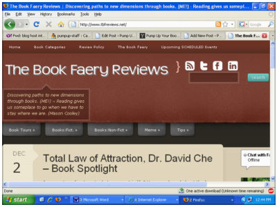 The Book Faery Reviews screenshot