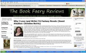 Christine Norris @ The Book Faery Reviews
