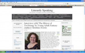 Christine Norris - Literarily Speaking