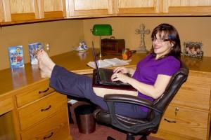 DrJackie at her Desk
