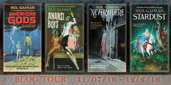 American Gods, Ananasi Boys, Stardust and Neverwhere