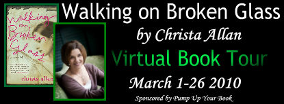 PUYB Blog Tour & Review: Walking on Broken Glass by Christa Allan
